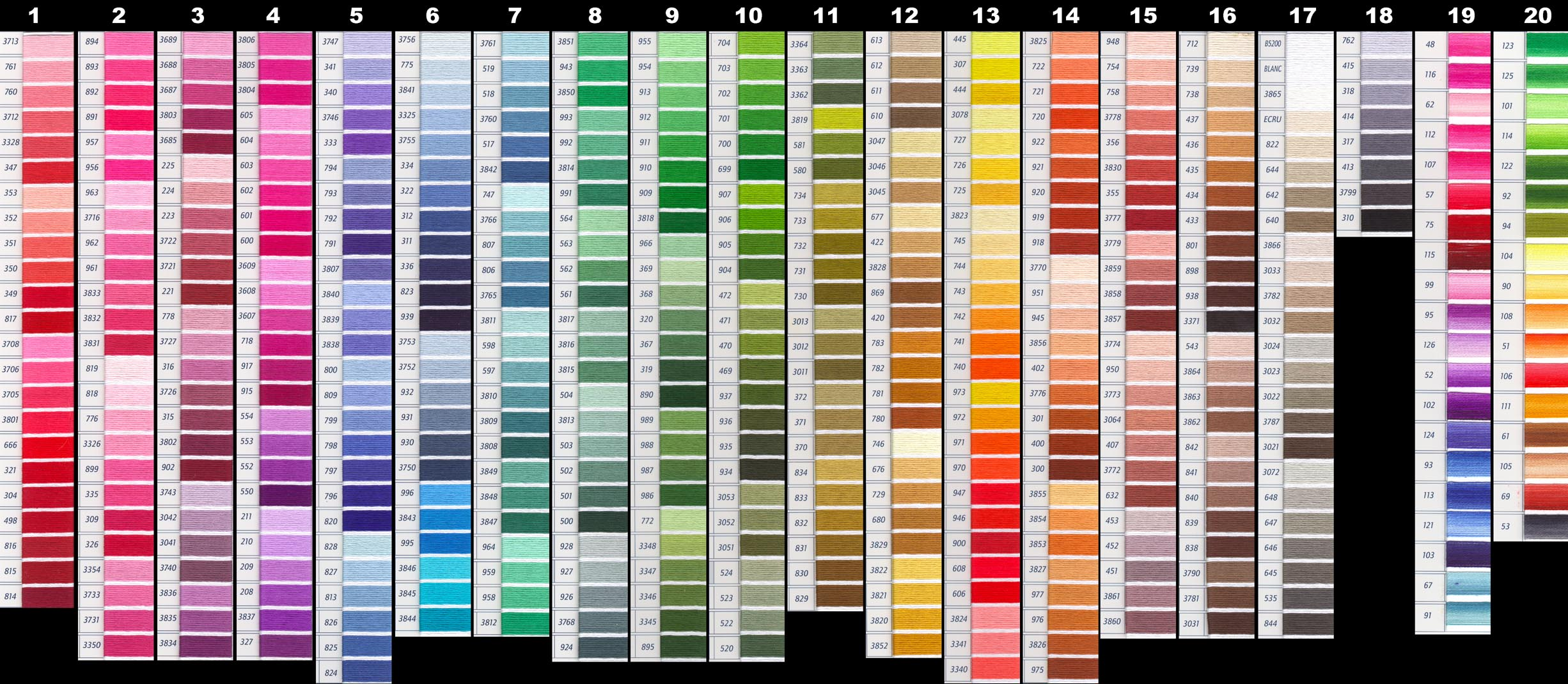 Untitled 1 here is the dmc color chart nvjuhfo Image collections